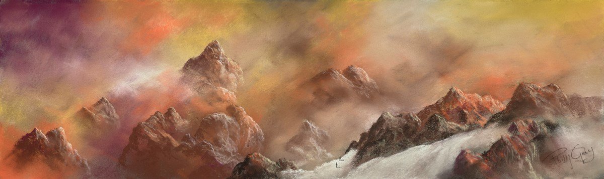 Mountain Sunset VI by philip gray -  sized 24x7 inches. Available from Whitewall Galleries